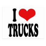 Amo los camiones tarjeta postal