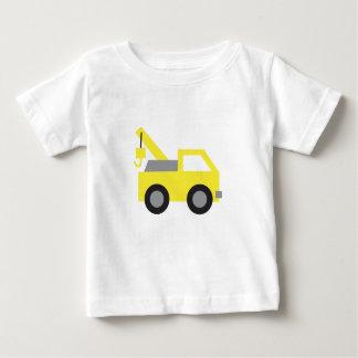Amo los camiones, vehículo amarillo lindo para los polera