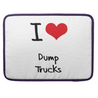 Amo los camiones volquete funda para macbook pro