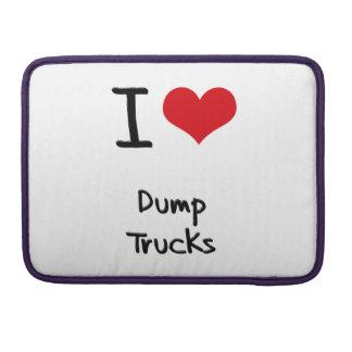Amo los camiones volquete fundas para macbooks