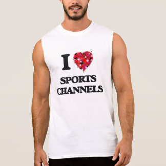 Amo los canales de los deportes playera sin mangas