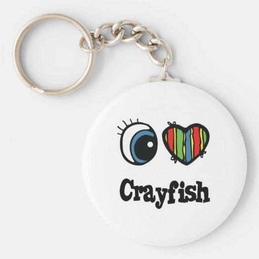 Amo los cangrejos (del corazón) llaveros personalizados