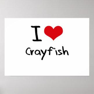 Amo los cangrejos posters