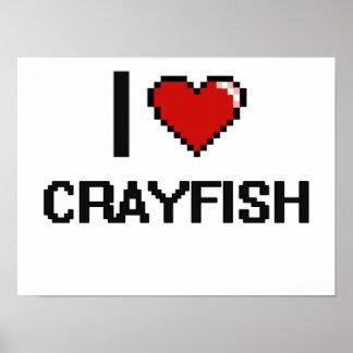 Amo los cangrejos póster