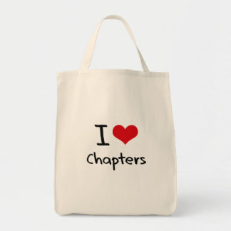 Amo los capítulos bolsa tela para la compra