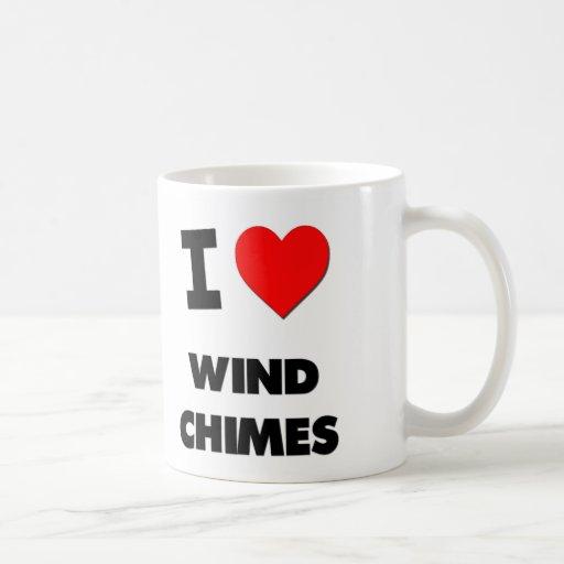 Amo los carillones de viento taza