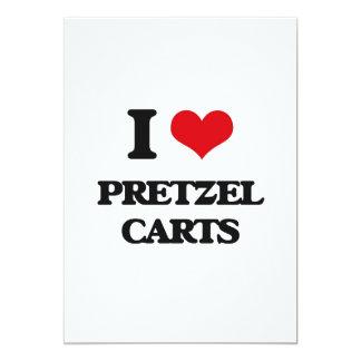 """Amo los carros del pretzel invitación 5"""" x 7"""""""