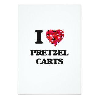 """Amo los carros del pretzel invitación 3.5"""" x 5"""""""