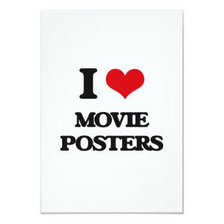 """Amo los carteles de película invitación 3.5"""" x 5"""""""
