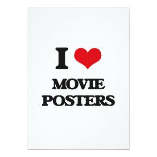 """Amo los carteles de película invitación 5"""" x 7"""""""