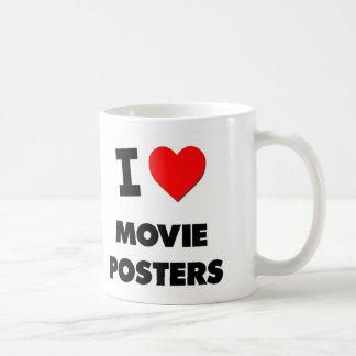 Amo los carteles de película taza de café