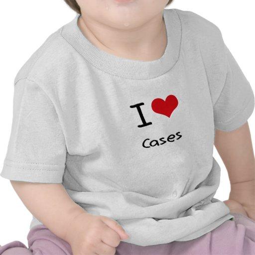 Amo los casos camiseta