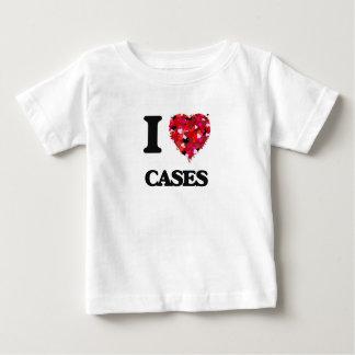 Amo los casos playera para bebé
