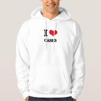 Amo los casos pulóver con capucha