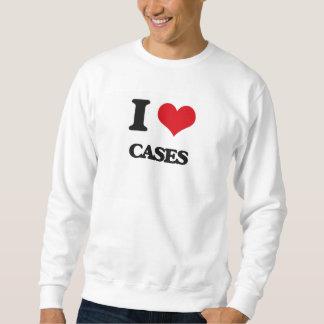 Amo los casos sudadera con capucha