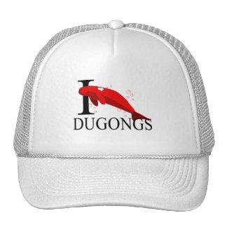 Amo los casquillos de Dugongs Gorras De Camionero