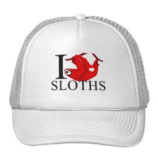 Amo los casquillos de las perezas gorra