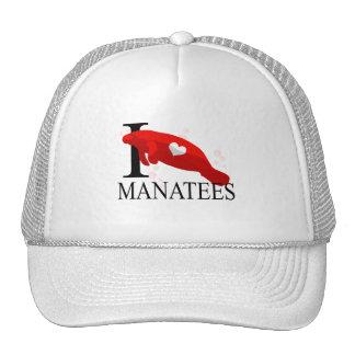 Amo los casquillos de los Manatees Gorro De Camionero