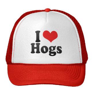 Amo los cerdos gorras