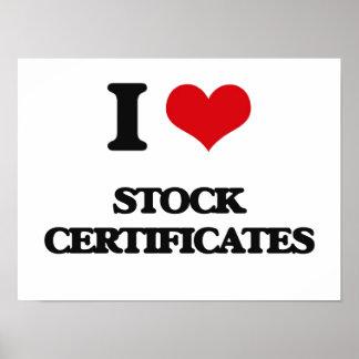 Amo los certificados comunes póster