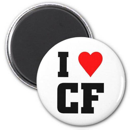 Amo los CF Imán De Frigorifico