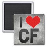 Amo los CF Imanes De Nevera