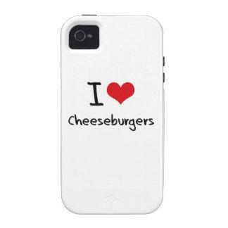 Amo los cheeseburgers iPhone 4/4S carcasas