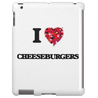 Amo los cheeseburgers funda para iPad