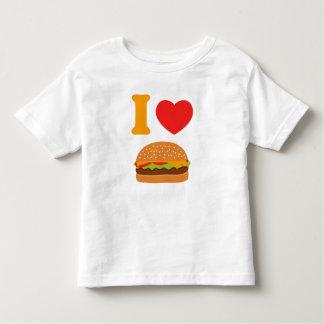 Amo los cheeseburgers playera de bebé
