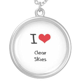 Amo los cielos claros collares personalizados