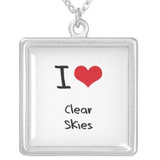 Amo los cielos claros joyería