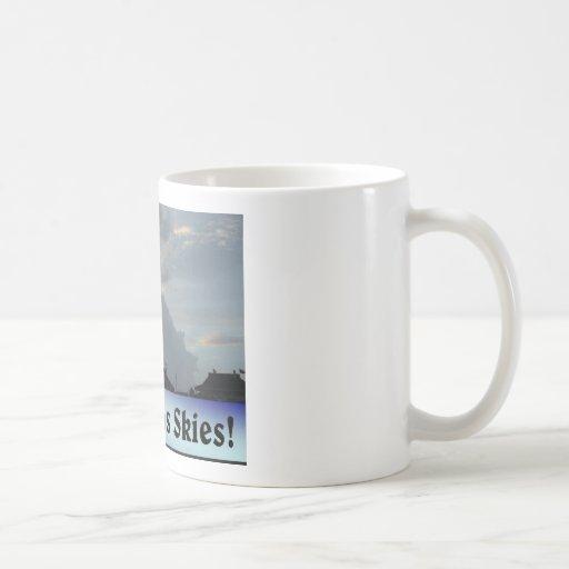 ¡Amo los cielos de Tejas! Tazas De Café