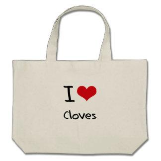 Amo los clavos bolsas de mano