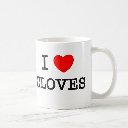 Amo los CLAVOS (la comida) Taza De Café