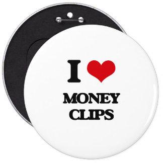 Amo los clips del dinero pins