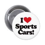 ¡Amo los coches de deportes! Pins