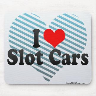 Amo los coches de ranura mouse pad