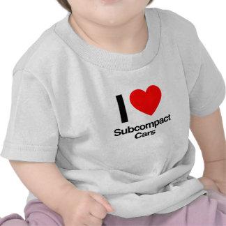 amo los coches del subcompact camisetas