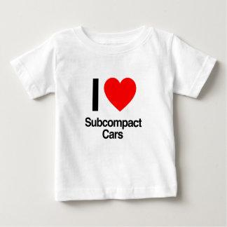 amo los coches del subcompact t-shirts