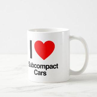 amo los coches del subcompact taza