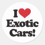 ¡Amo los coches exóticos! Etiquetas