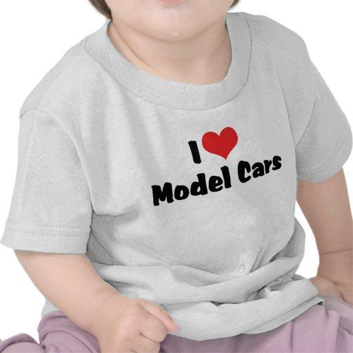 Amo los coches modelo camisetas