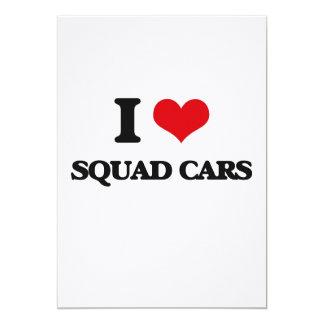 Amo los coches patrulla invitación 12,7 x 17,8 cm