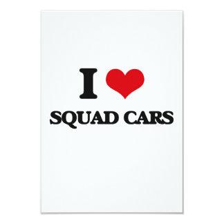 Amo los coches patrulla invitación 8,9 x 12,7 cm
