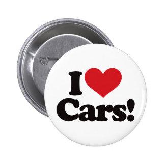 ¡Amo los coches! Pin Redondo De 2 Pulgadas