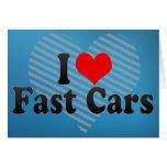 Amo los coches rápidos tarjetón