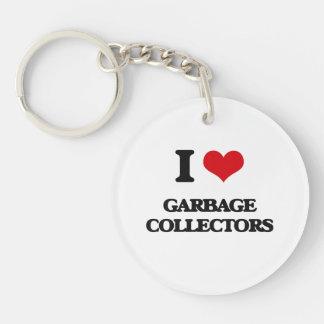 Amo los colectores de basura llavero