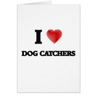 Amo los colectores de perro tarjeta de felicitación
