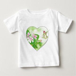 Amo los colibríes, colección del pájaro playera de bebé