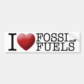 Amo los combustibles fósiles pegatina para auto
